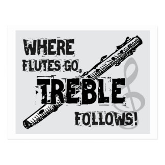 Where Flutes Go - Treble Follows Post Cards