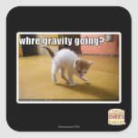 Where gravity going? square sticker