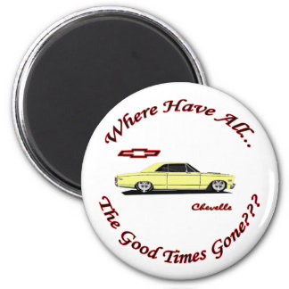 Where Have All The Good Times Gone 2 Inch Round Magnet