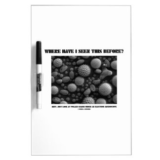 Where Have I Seen This Before? Pollen Grains Dry-Erase Board