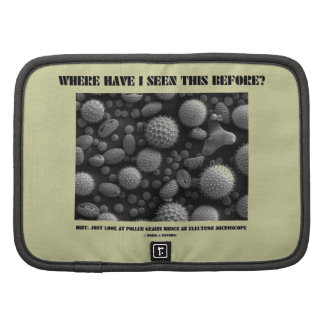 Where Have I Seen This Before? Pollen Grains Planner