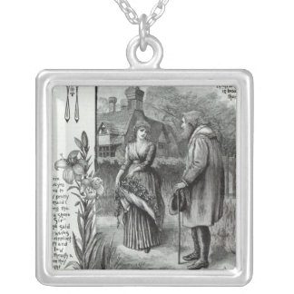 Where have you been to my pretty maid? silver plated necklace
