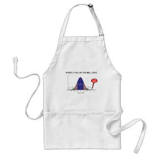 Where I Fall On The Bell Curve I Am Here Adult Apron