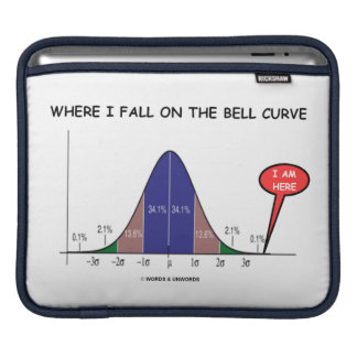 Where I Fall On The Bell Curve I Am Here (Stats) Sleeve For iPads