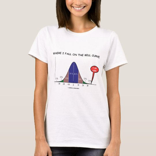 Where I Fall On The Bell Curve I Am Here T-Shirt