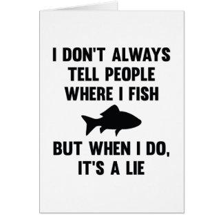 Where I Fish Card