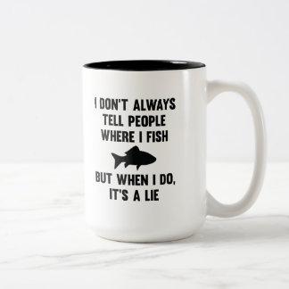 Where I Fish Two-Tone Coffee Mug