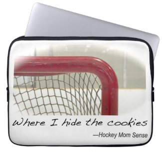 Where I Hide the Cookies laptop cover