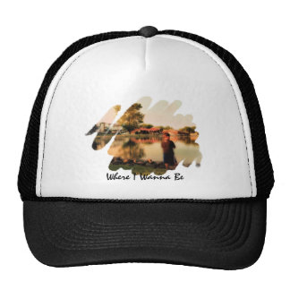 Where I Wanna Be wipe Trucker Hat