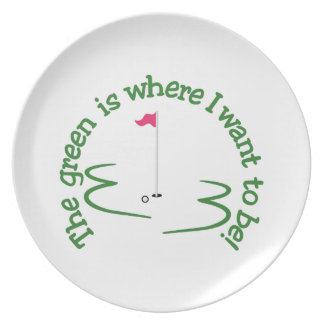 Where I Want to Be Melamine Plate