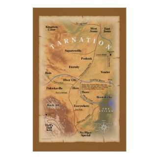 Where in Tarnation? poster print
