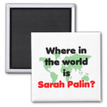Where in the World is Sarah Palin? Fridge Magnets