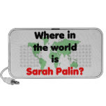 Where in the World is Sarah Palin? Mp3 Speakers