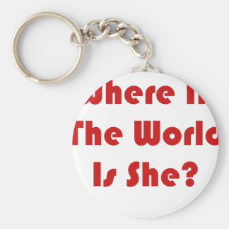 Where In The World Is She? Keychain