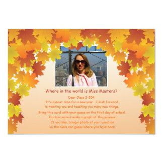 Where In The World Teacher's Photo Icebreaker Card