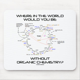 Where In The World Would You Be Organic Chemistry? Mouse Pad