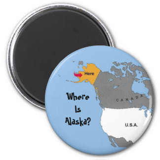 Where Is Alaska? Magnet