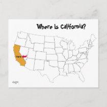 Where Is California? Postcard