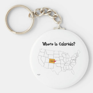 Where Is Colorado? Keychain