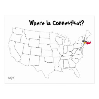Where Is Connecticut? Postcard