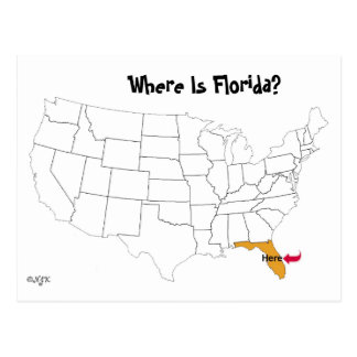 Where Is Florida Postcards