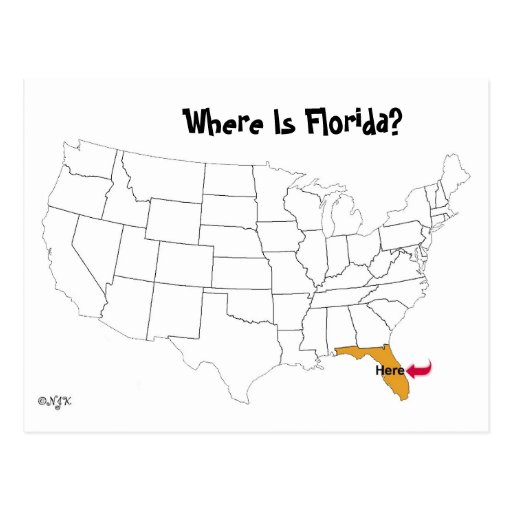 Where Is Florida? Postcards