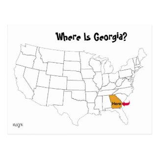 Where Is Georgia? Postcard