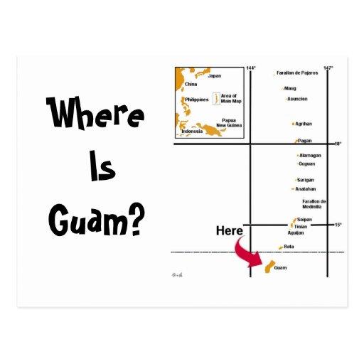 Where Is Guam? Postcard