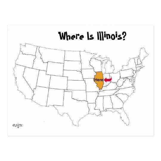 Where Is Illinois? Postcard