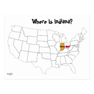 Where Is Indiana? Postcard