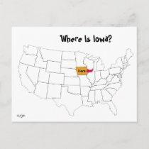 Where Is Iowa? Postcard
