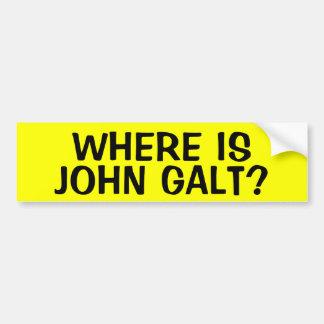 WHERE IS JOHN GALT? CAR BUMPER STICKER