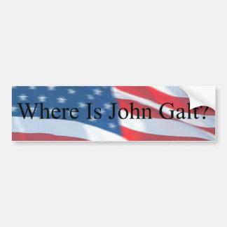 WHERE IS JOHN GALT-FLAG CAR BUMPER STICKER