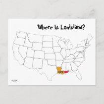 Where Is Louisiana? Postcard