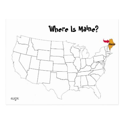Maine State Map Postcard Zazzle Com