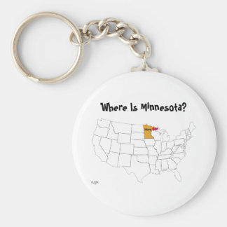 Where Is Minnesota? Keychain