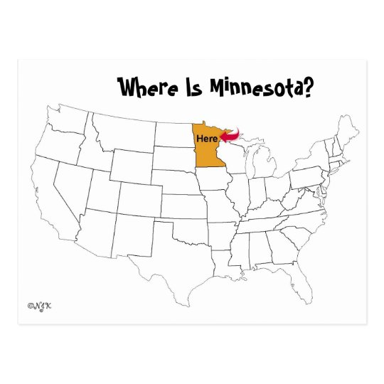 Where Is Minnesota Postcard Zazzlecom - Where is minnesota