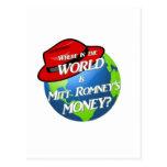 Where is Mitt's Money? Post Card