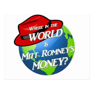 Where is Mitt's Money? Postcard