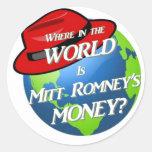 Where is Mitt's Money? Round Sticker