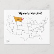 Where Is Montana? Postcard