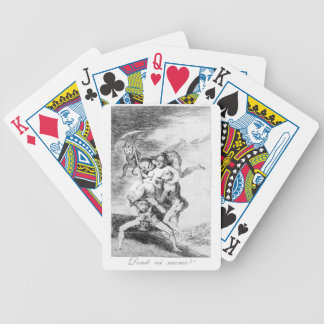 Where is mother going? by Francisco Goya Bicycle Playing Cards