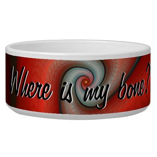 Where is my bone? Pet Bowl Dog Food Bowls