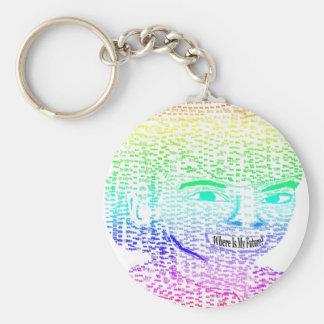 Where Is My Future Female Basic Round Button Keychain