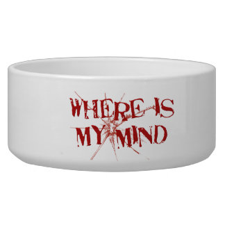 Where Is My Mind - Cracked Glass Red Messy Letters Bowl