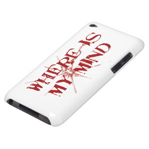 Where Is My Mind - Cracked Glass Red Messy Letters iPod Touch Cover