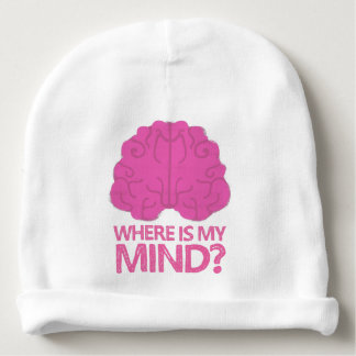 where is my mind? with pink brain baby beanie