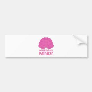 where is my mind? with pink brain bumper sticker