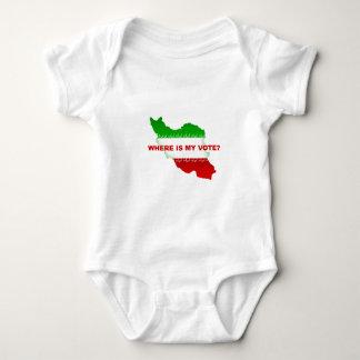 Where is my vote? baby bodysuit