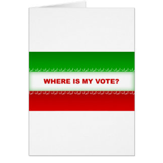 Where is my vote? card